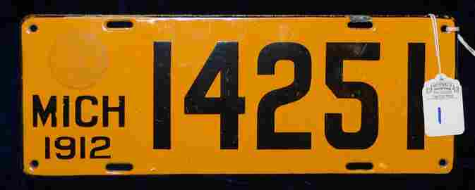 1912 Michigan License Plate #14251