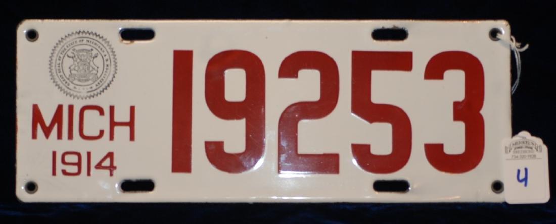 1914 Michigan License Plate #19253