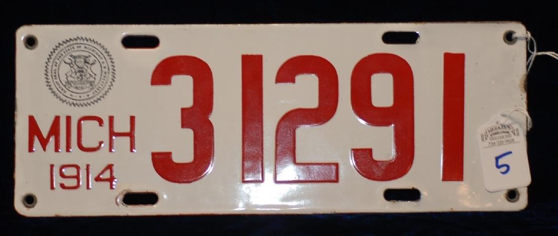 1914 Michigan License Plate #31291