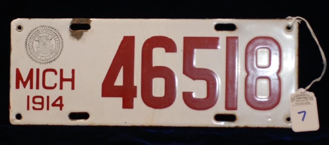1914 Michigan License Plate #46518