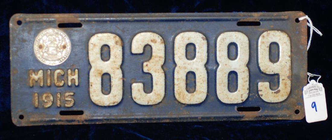 1915 Michigan License Plate #83889