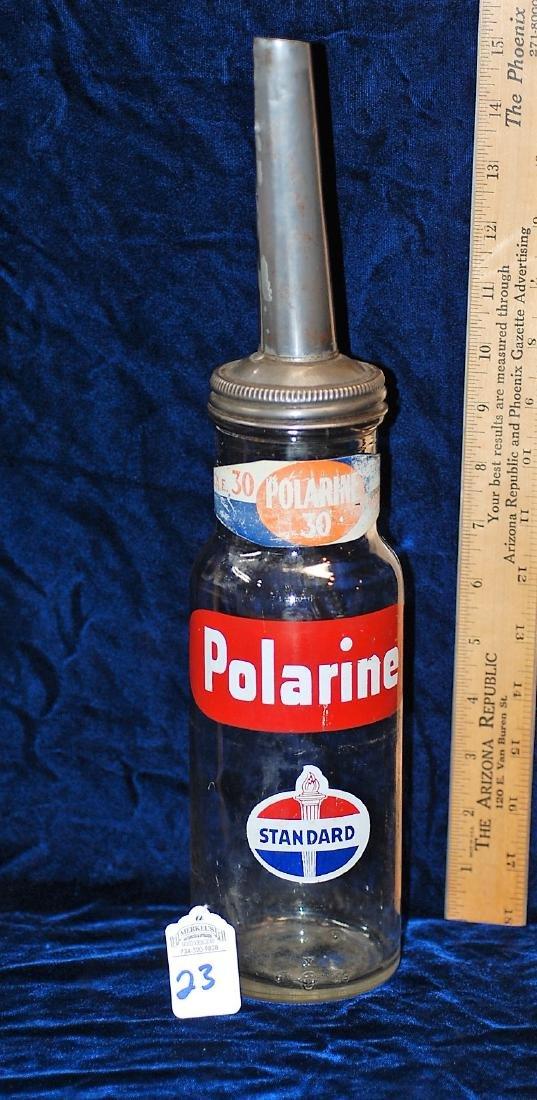 Polarine Standard Oil Co Quart Oiler with Original