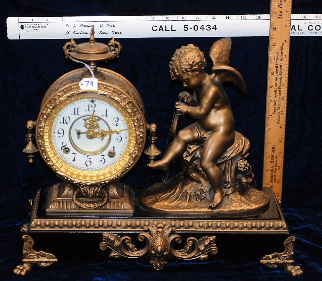 Ansonia Cherub Mantel Clock