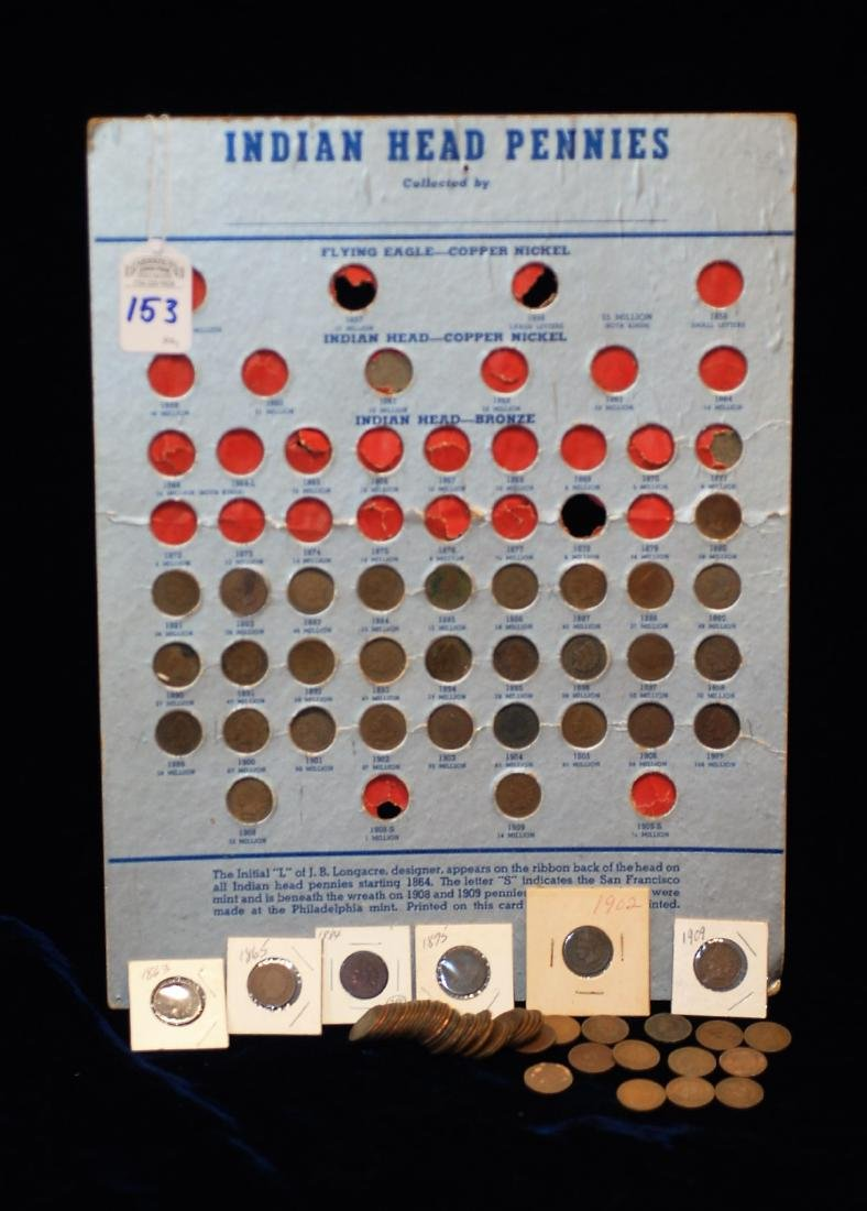 84 Indian Head Pennies Collection
