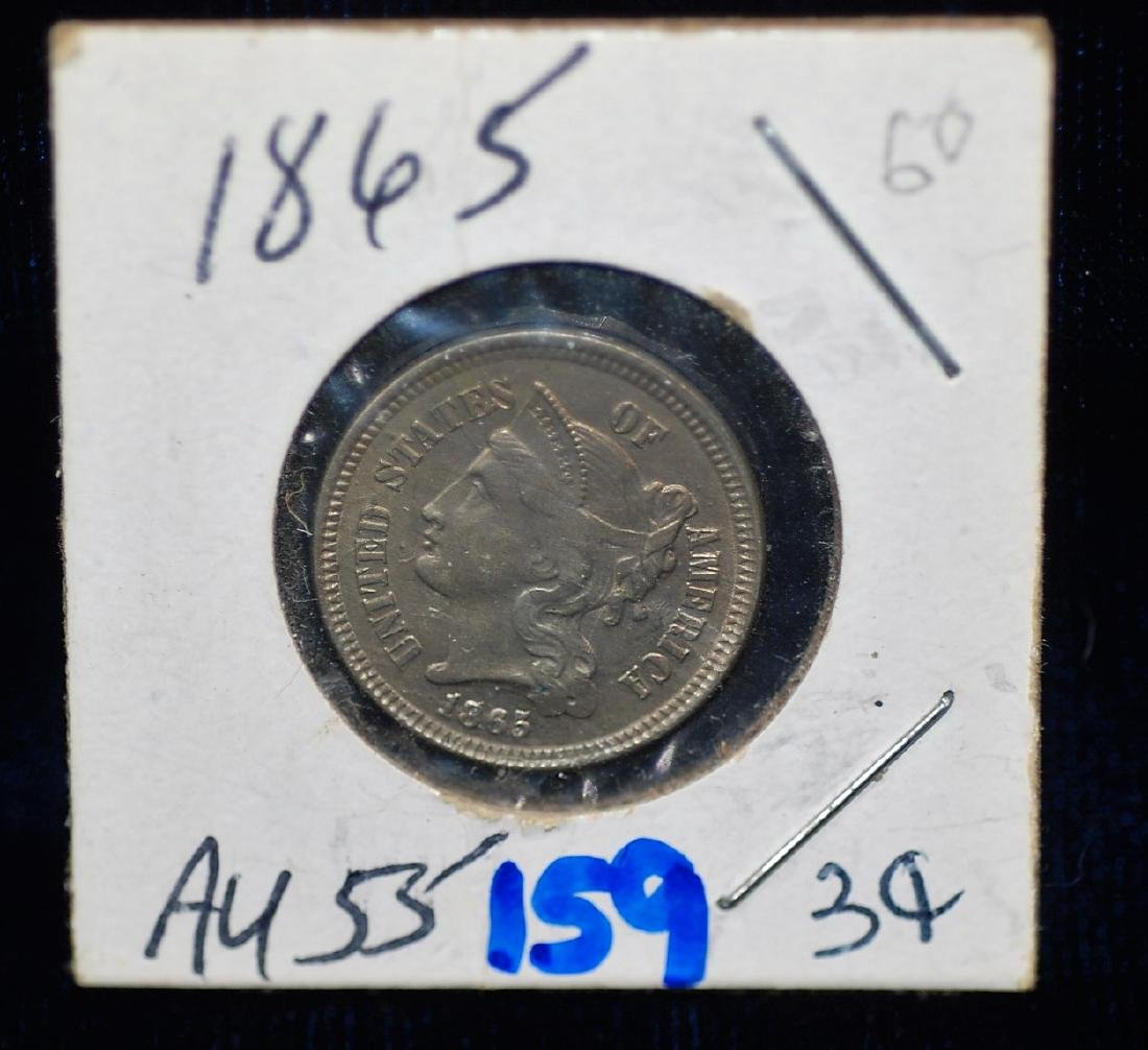 1865 US 3 Cent Coin