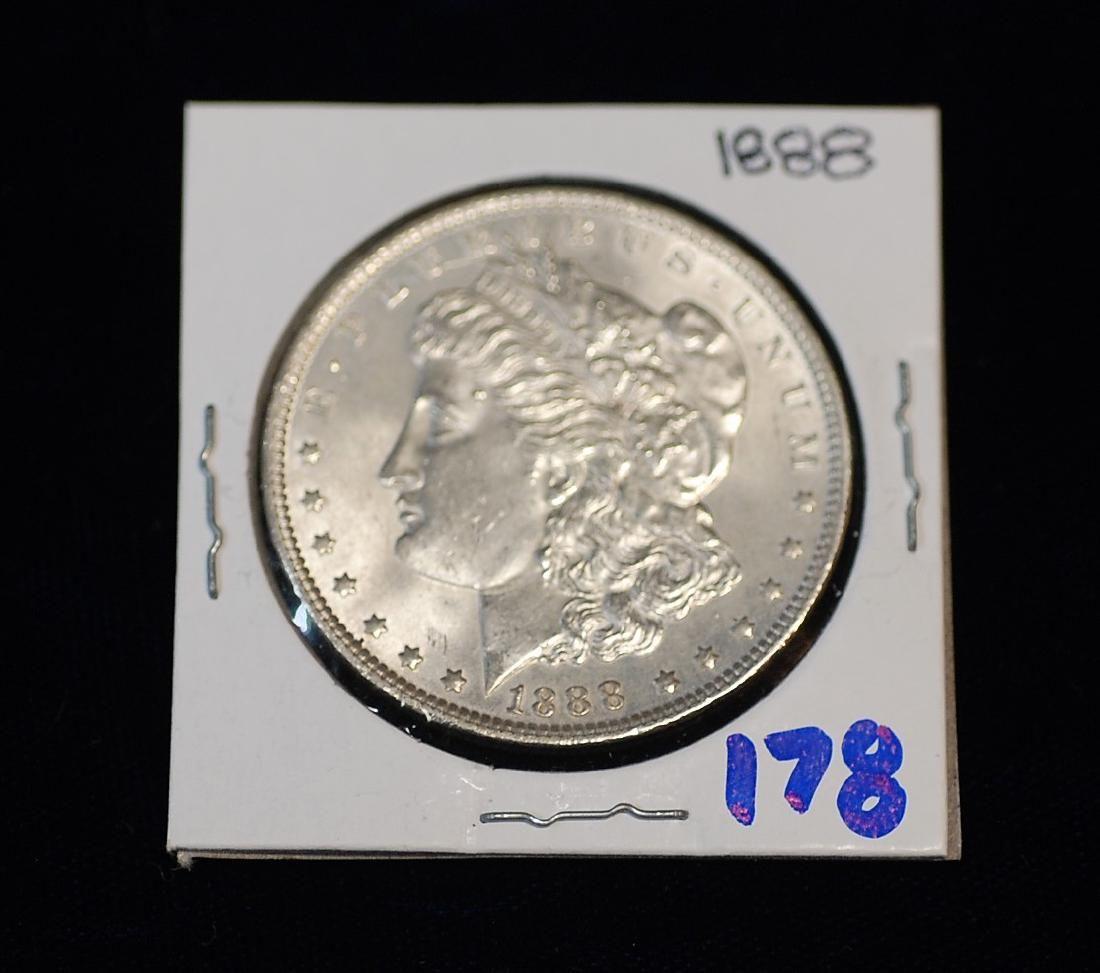 1888 US Silver Morgan Dollar