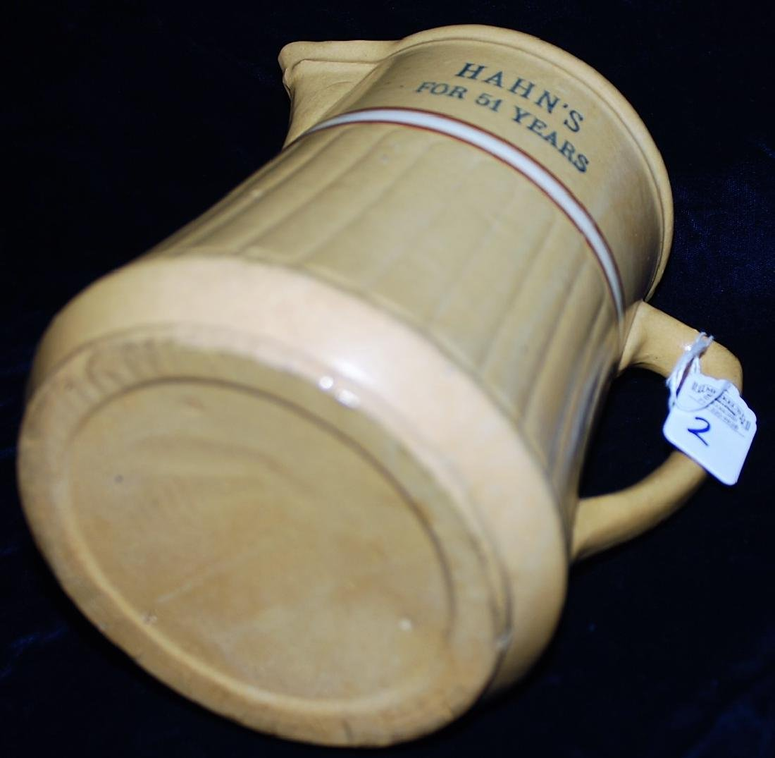 """Red Wing Saffron Ware Pitcher """"Hahns For 51 Years"""" - 3"""
