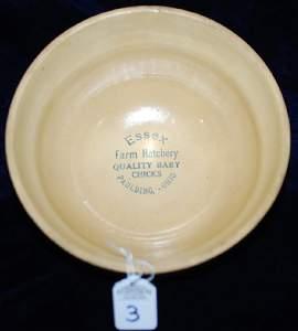 "Red Wing Saffron Ware 2 Color Sponged Bowl ""Essex Farm"