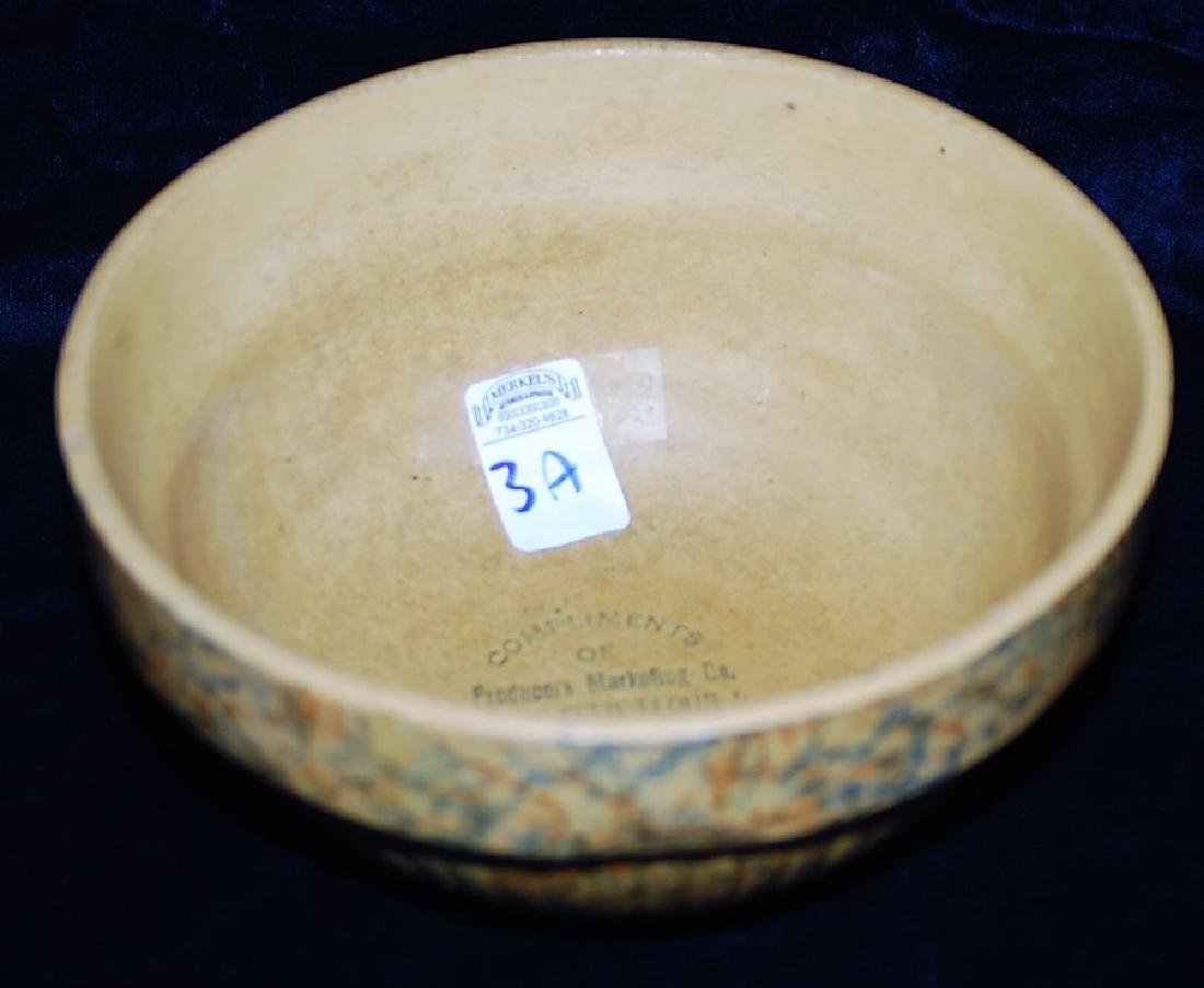 Red Wing Saffron Ware 2 Color Sponged Bowl Marketing Co - 3