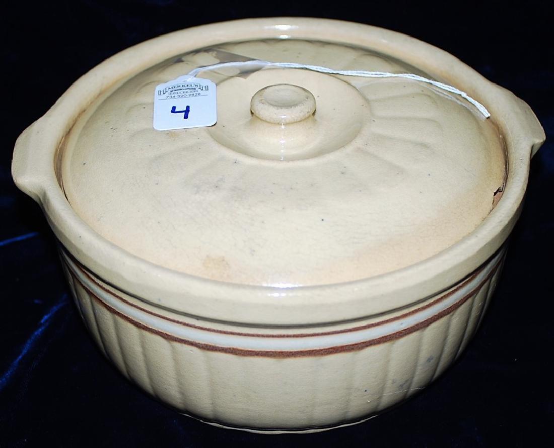 Red Wing Saffron Ware Cover Casserole Dish w/ lid