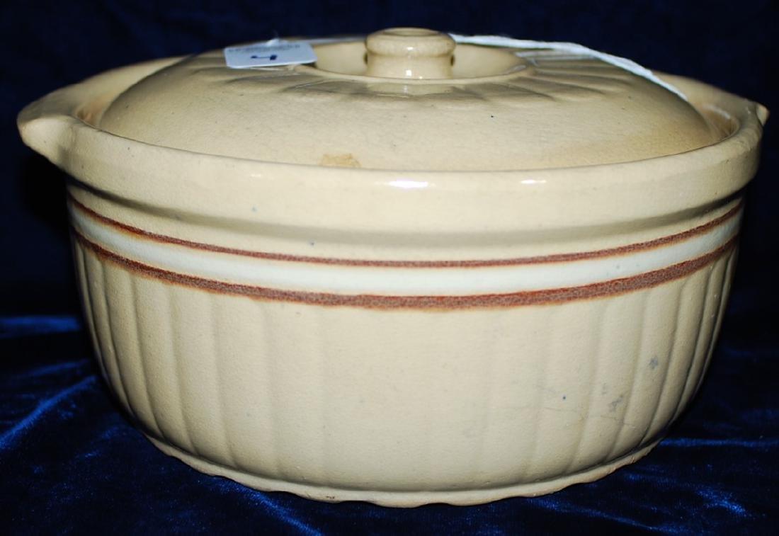 Red Wing Saffron Ware Cover Casserole Dish w/ lid - 2
