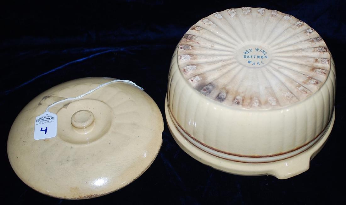 Red Wing Saffron Ware Cover Casserole Dish w/ lid - 3