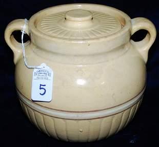 Red Wing Saffron Ware Bean Pot w lid