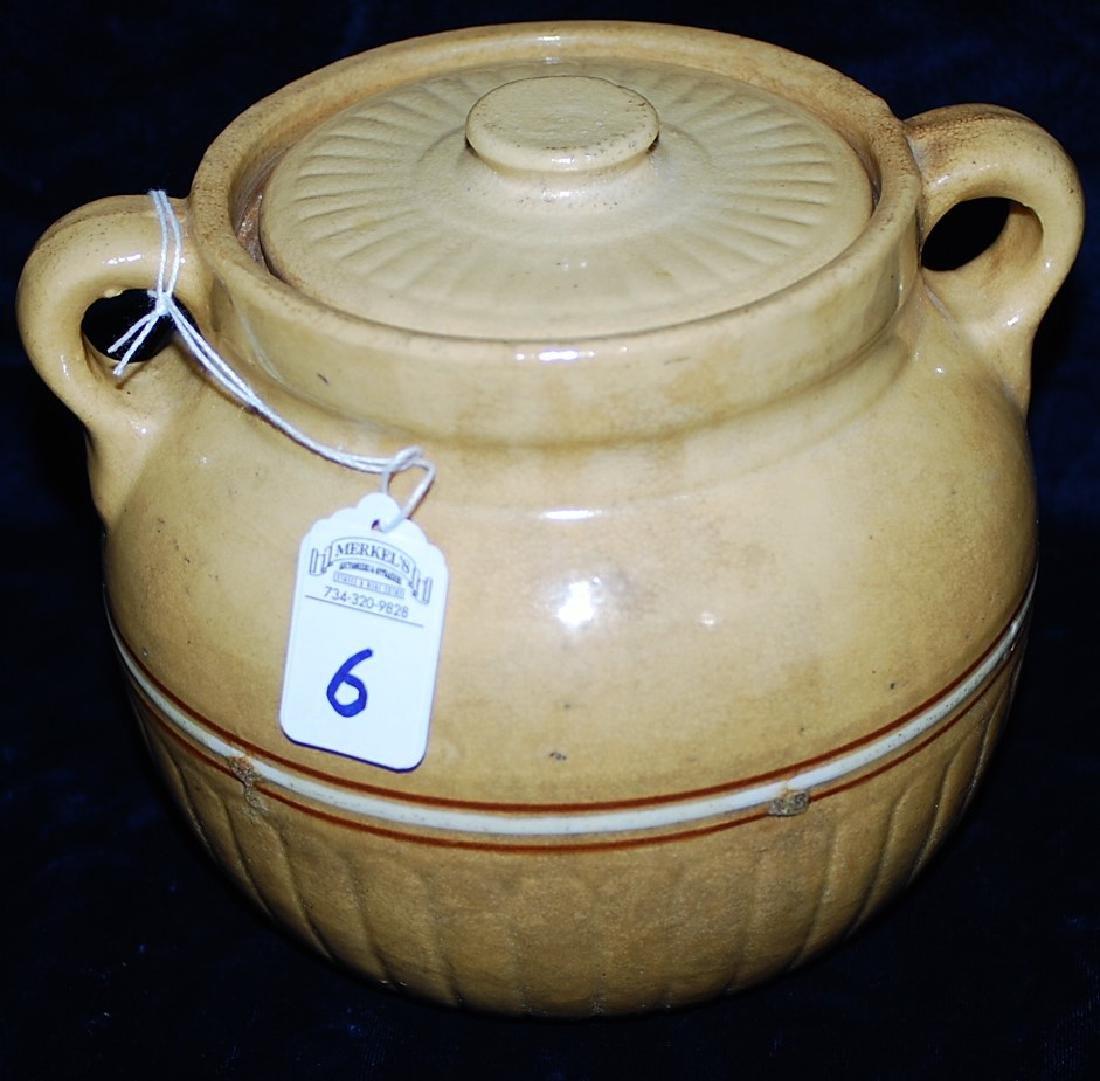 Red Wing Saffron Ware Bean Pot w/ lid