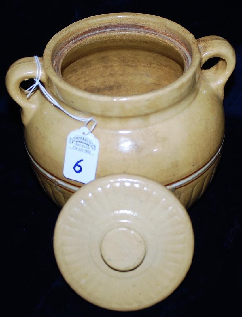 Red Wing Saffron Ware Bean Pot w/ lid - 2