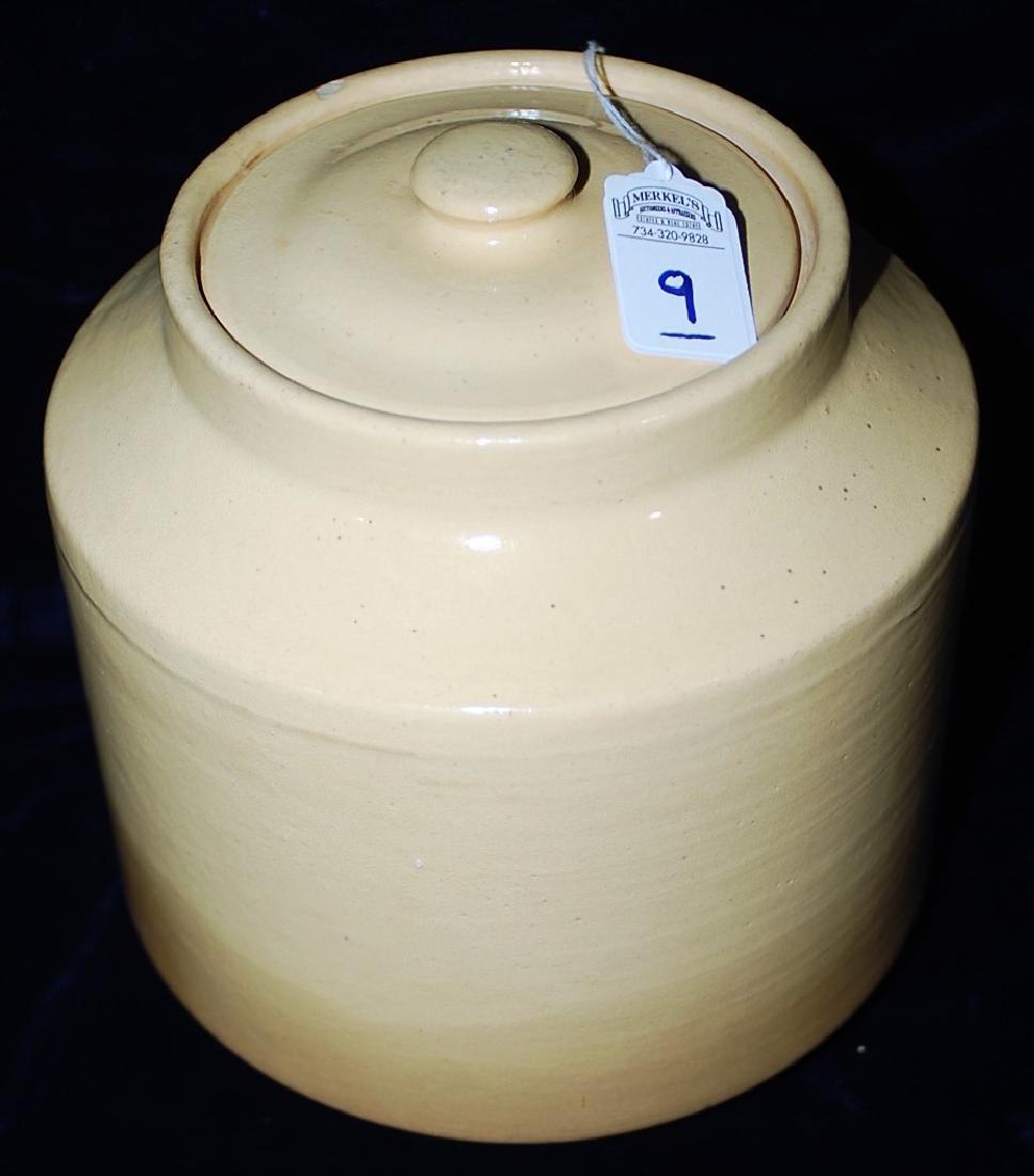 Red Wing Saffron Ware Jar w/ lid