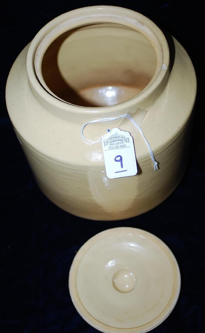 Red Wing Saffron Ware Jar w/ lid - 4