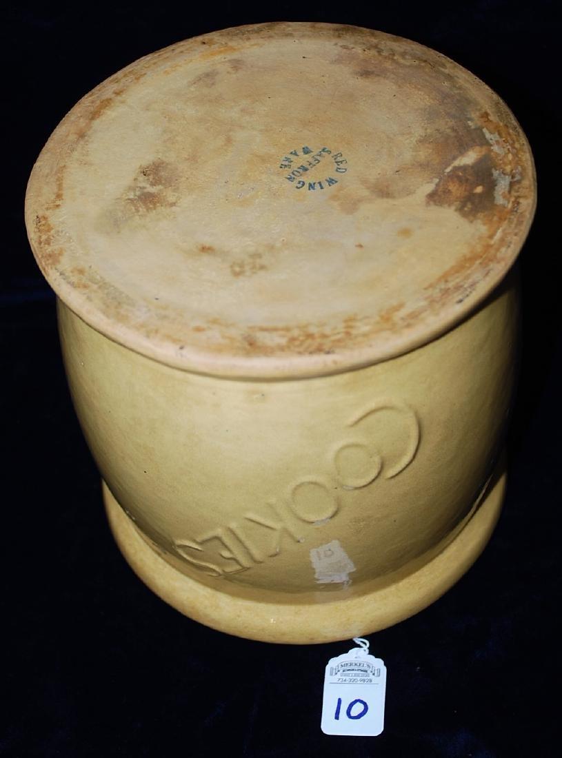 Red Wing Saffron Ware Cookie Jar - 2