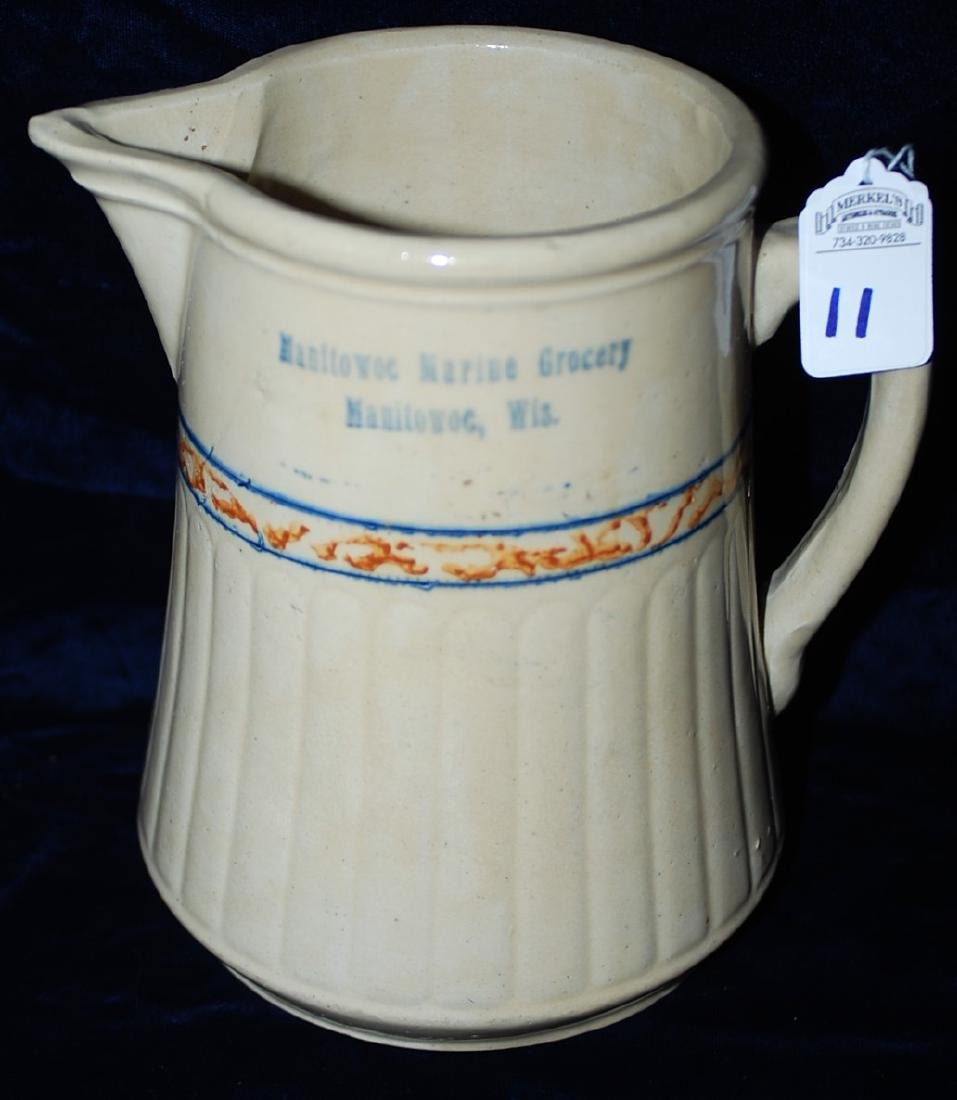 Red Wing Advertising Pitcher Manitowoc Marine Grocery
