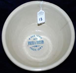 Red Wing Advertising Bowl Frush & Houser Jesup Iowa