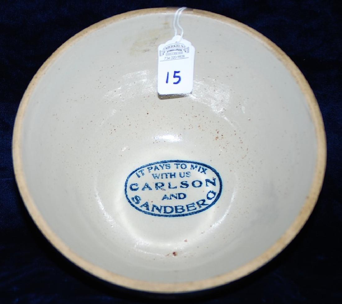 Advertising Bowl Carlson and Sandberg Greek Lettering