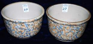 Red Wing Baking Bowls lot of 2 Two color Sponged