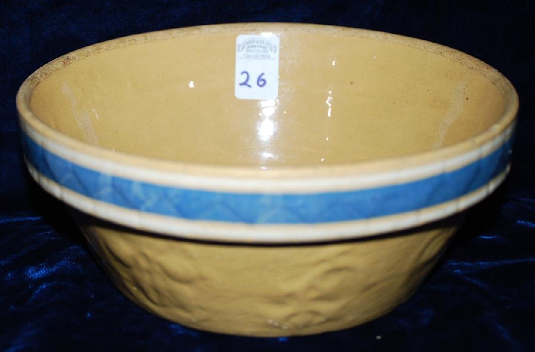 Yellow Ware Cherries embossed Mixing Bowl w/ panel RWB