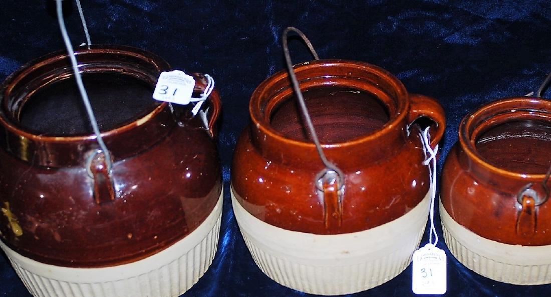 Red Wing Graduated Bean Pot Set of 3 no lids
