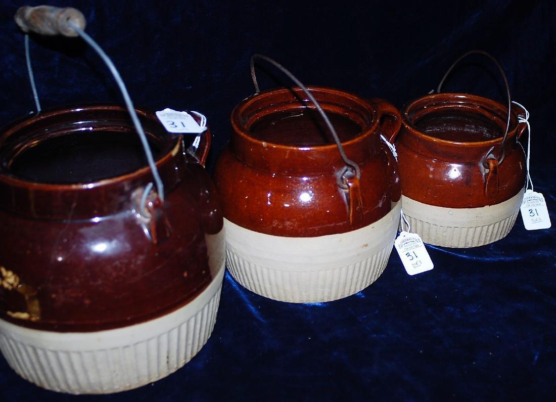 Red Wing Graduated Bean Pot Set of 3 no lids - 2