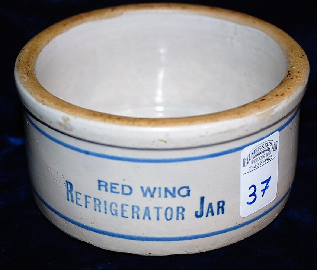 "Refrigerator jar. Reads ""RED WING REFRIGERATOR JAR"""