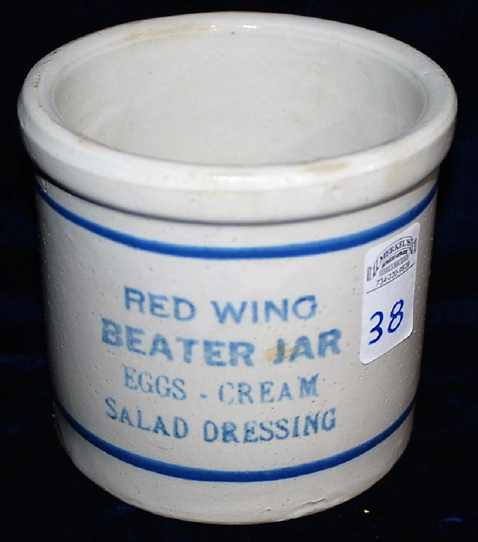 Beater jar. Reads RED WING BEATER JAR EGGS CREAM SALAD