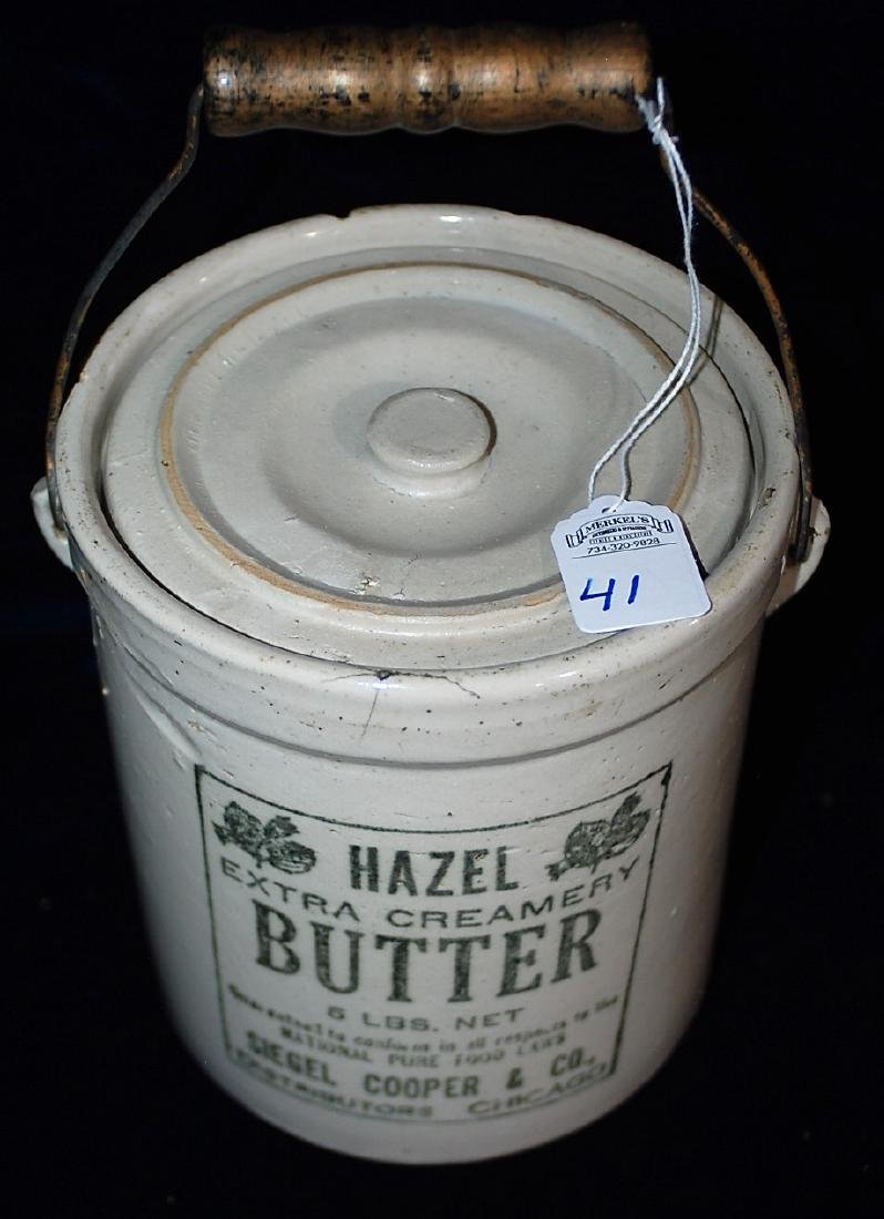 Red Wing 5 lb. Hazel Butter jar with lid marked RWS CO