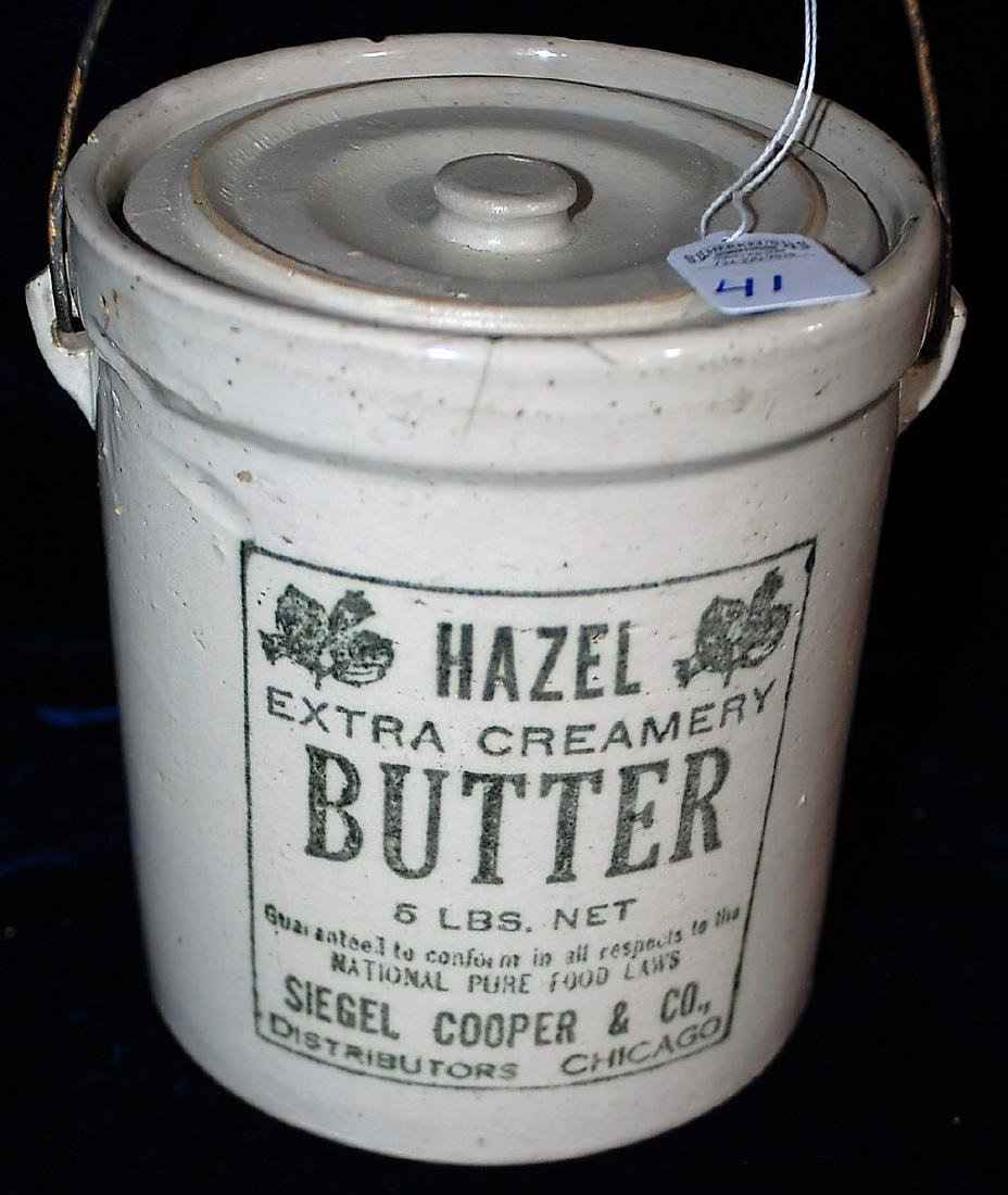 Red Wing 5 lb. Hazel Butter jar with lid marked RWS CO - 2