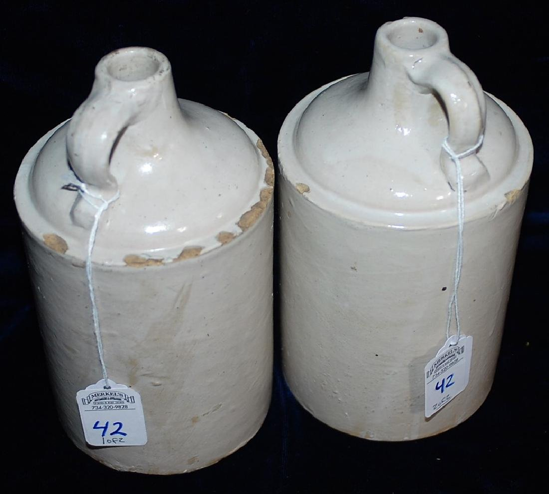 Lot of two Red Wing quart sized white glaze jugs