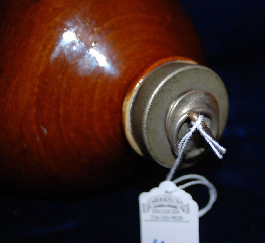 Red Wing brown slip glaze foot warmer water bottle - 2