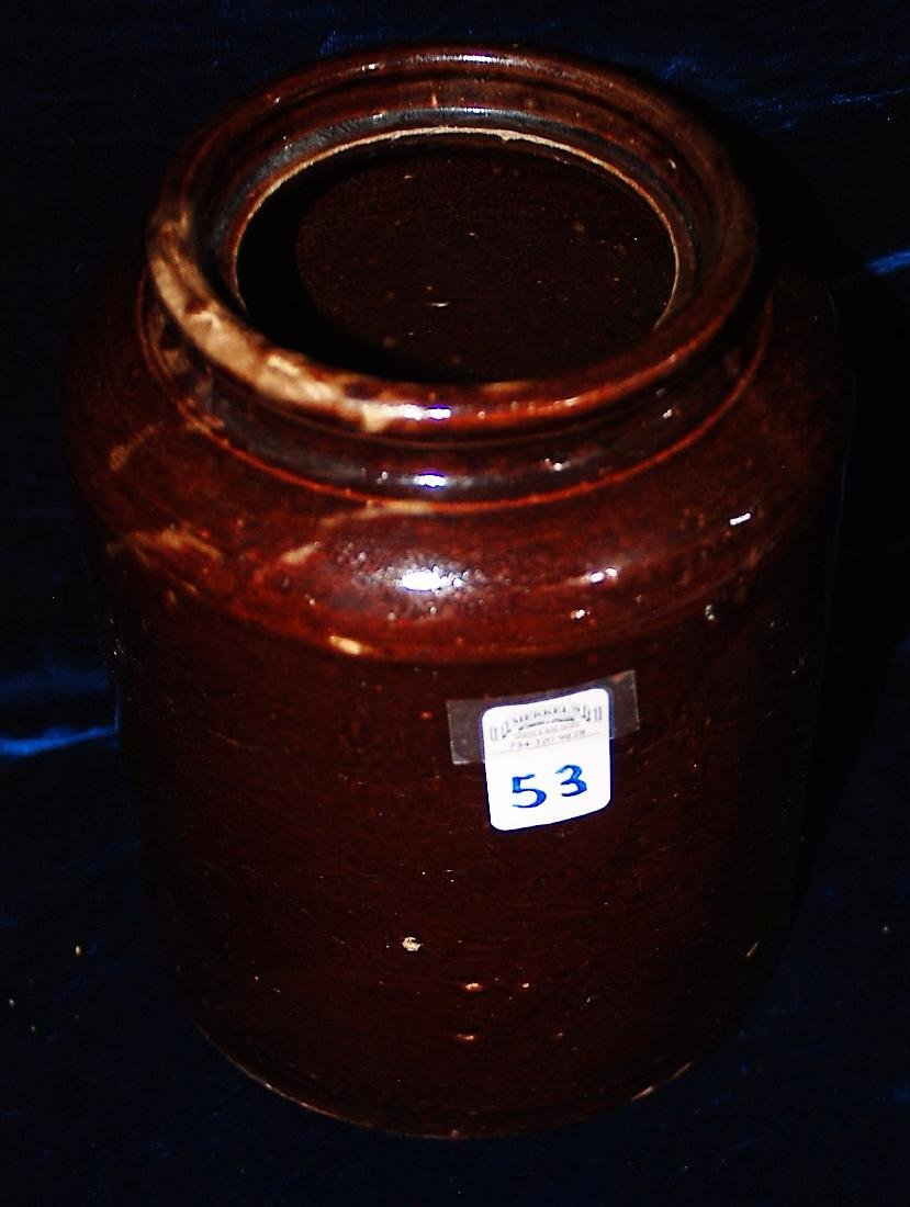 Red Wing one gallon jar with red/brown glaze