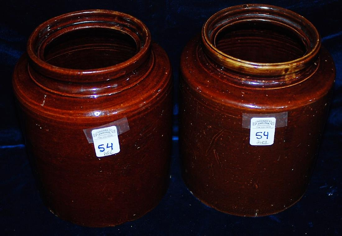 Lot of 2 one gallon wide mouth storage jars 8 ½ & 4 ½