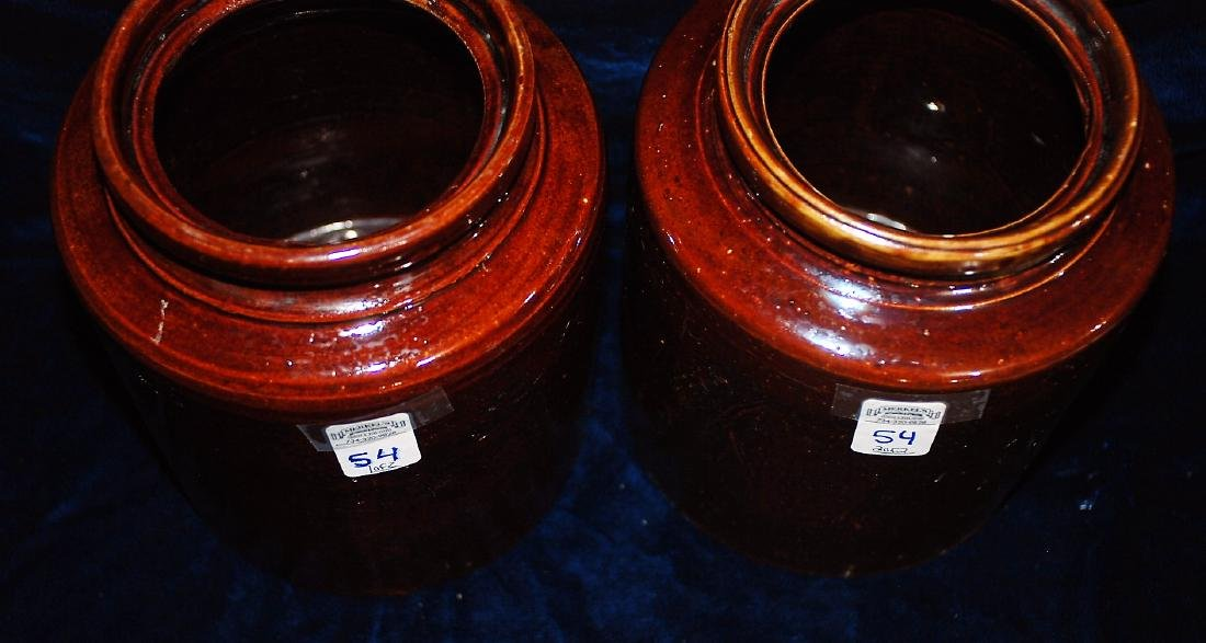 Lot of 2 one gallon wide mouth storage jars 8 ½ & 4 ½ - 2