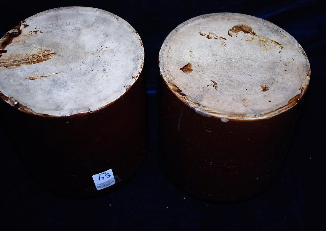 Lot of 2 one gallon wide mouth storage jars 8 ½ & 4 ½ - 4
