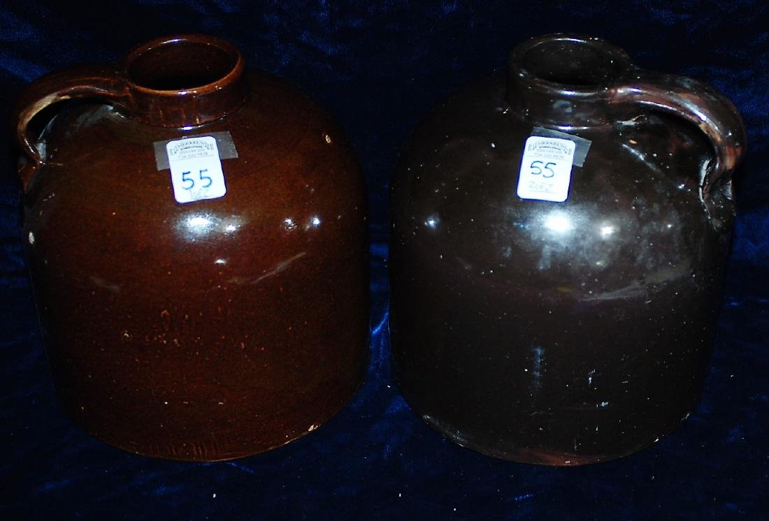 Red Wing lot of 2 one gallon wide mouth handled jugs
