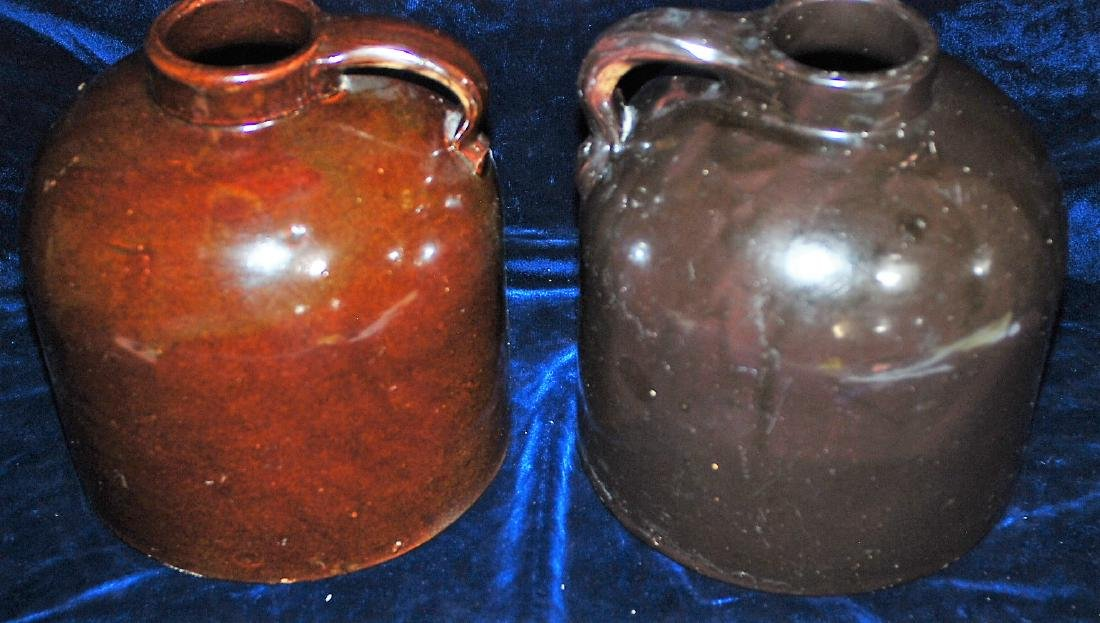 Red Wing lot of 2 one gallon wide mouth handled jugs - 5