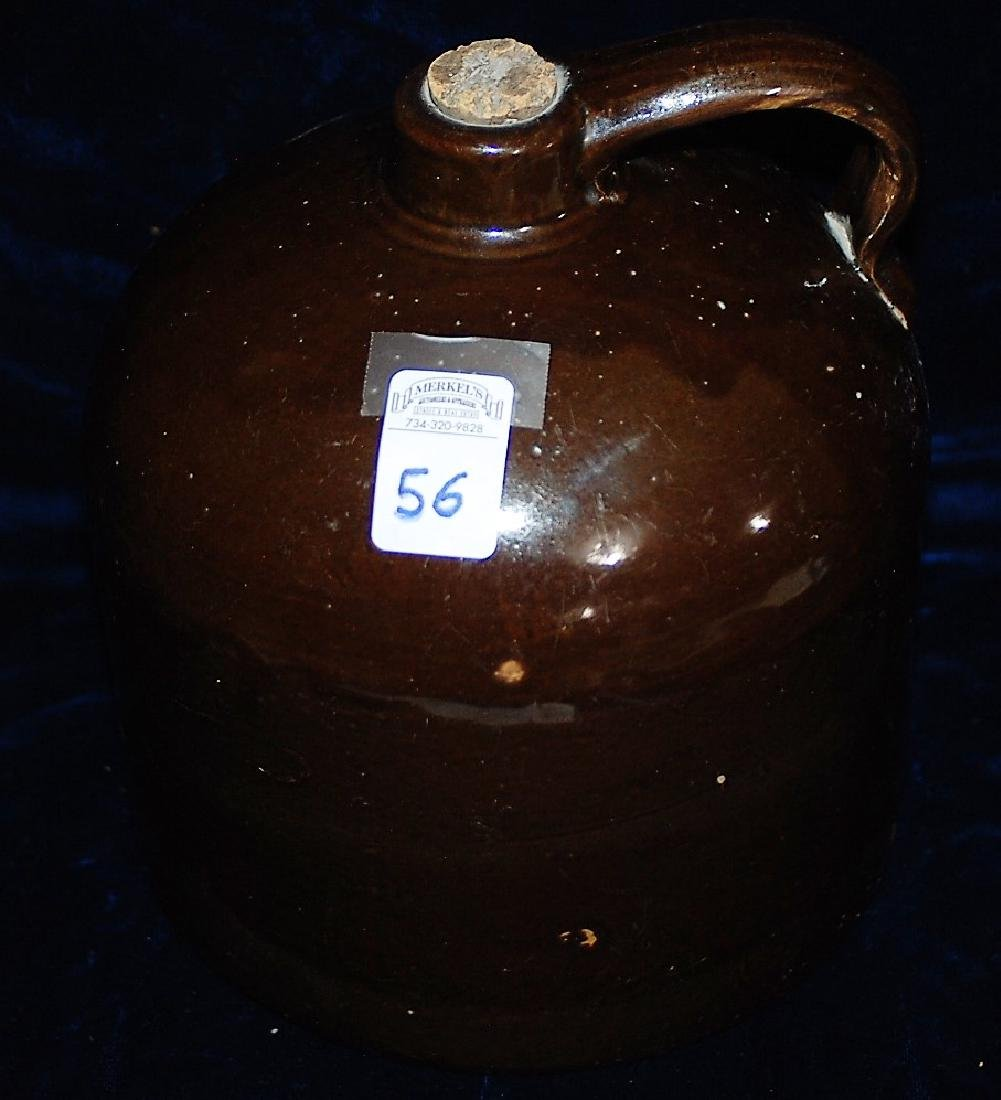 RED WING one gallon handled jug with red/brown glaze