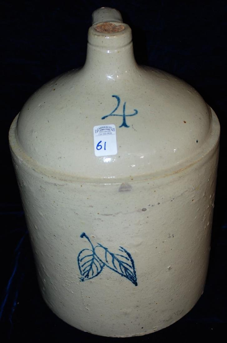 Red Wing four gallon birch leaf handled jug. Number 4