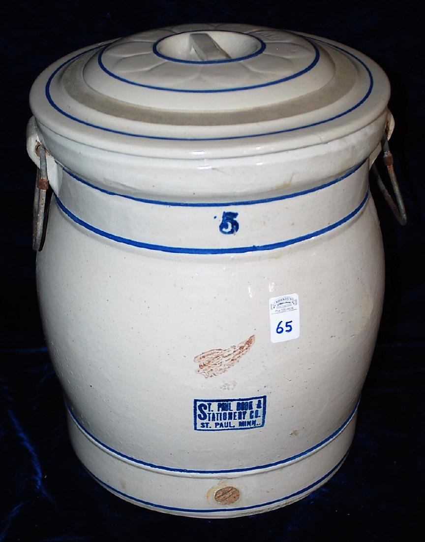 Red Wing 5 gallon water cooler with St. Paul, Minn