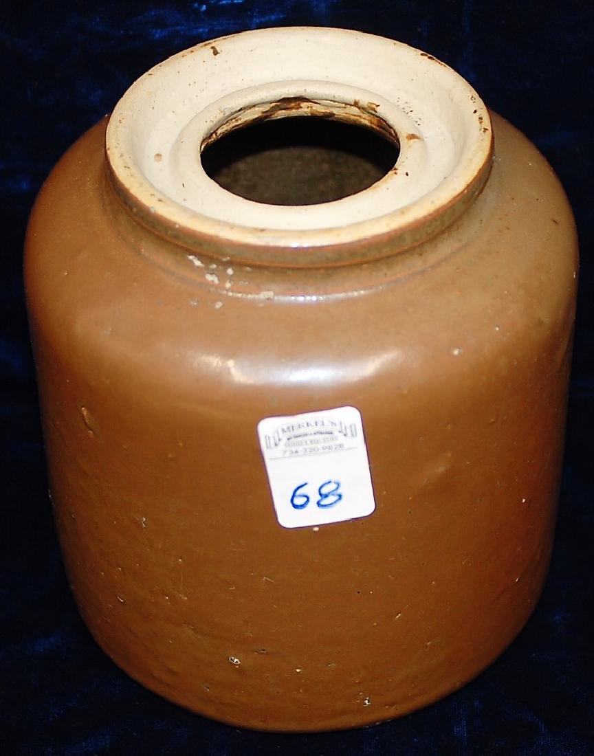 1892-1896 North Star Stoneware Wide Canter Jar