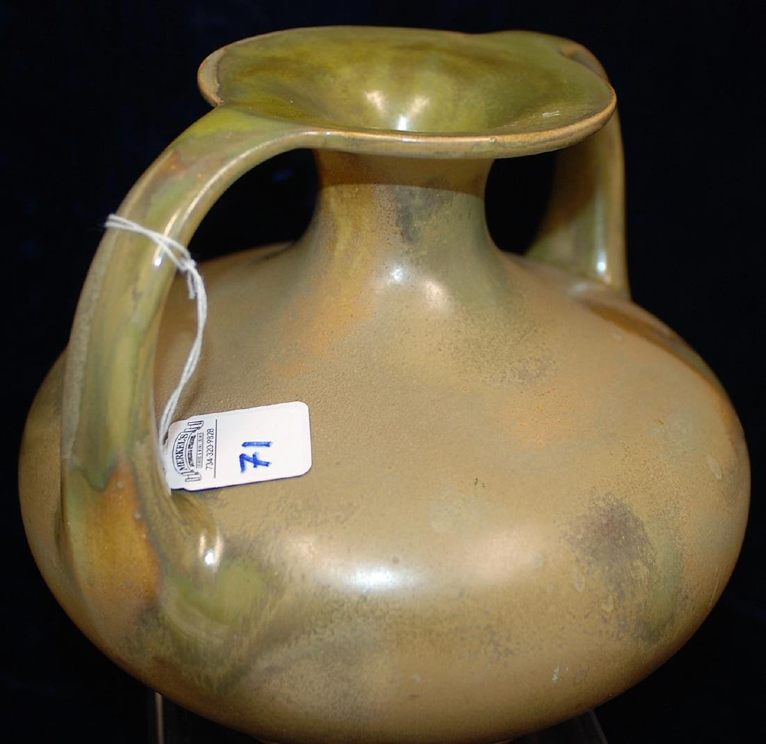 Red Wing Nokomis Art Pottery Vase DBL Handled Amphora - 4