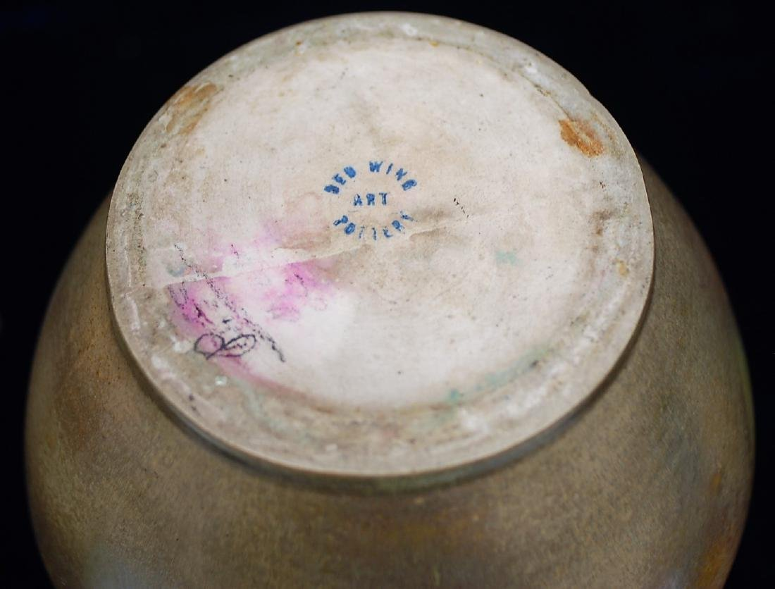 Red Wing Nokomis Art Pottery Ovid Vase - 4