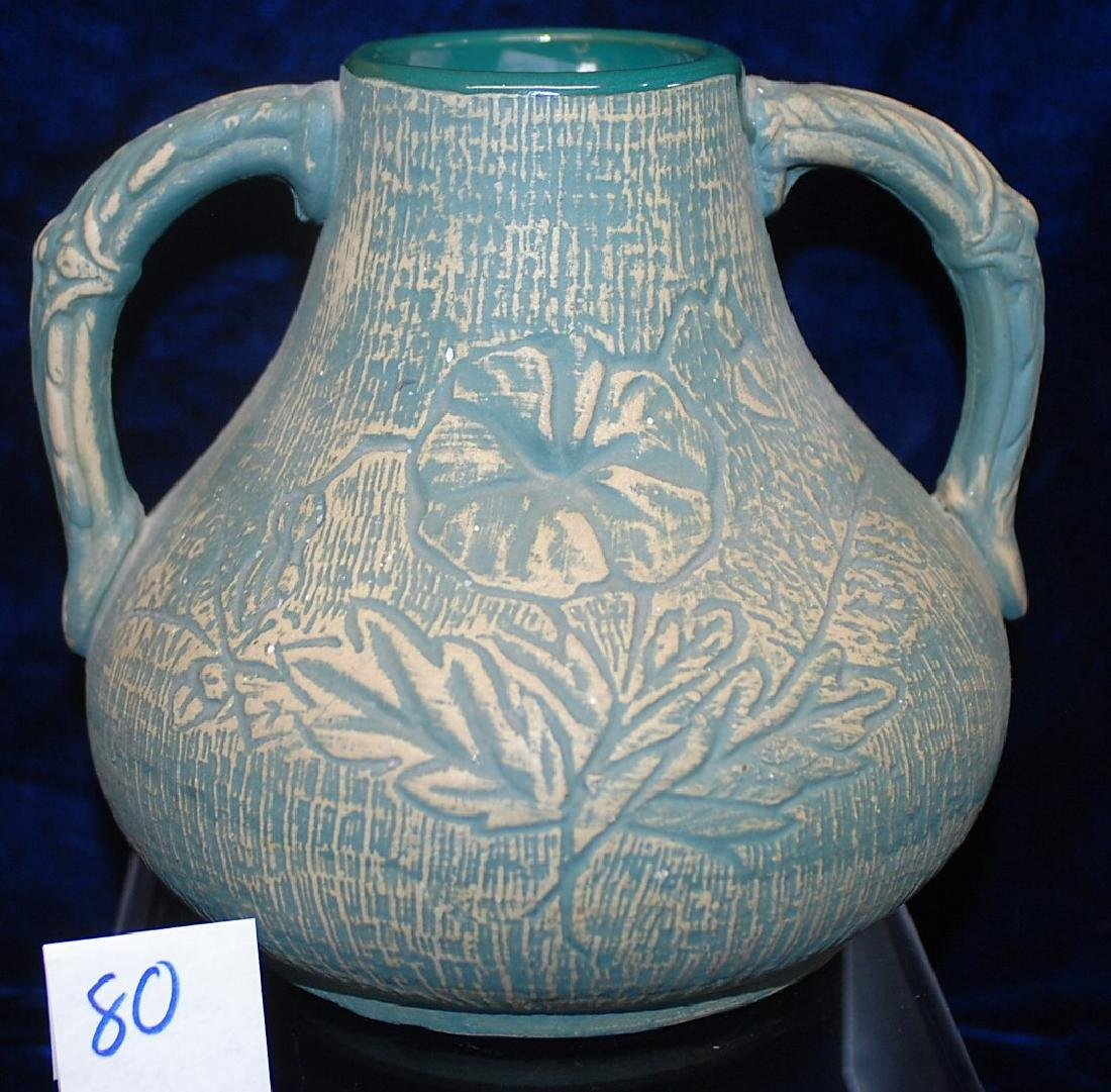 Brushed ware Red Wing Union Stoneware #127 Vase - 2
