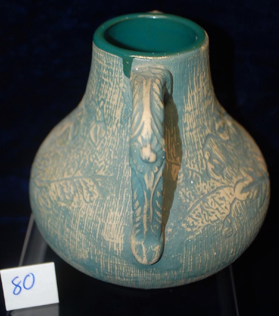 Brushed ware Red Wing Union Stoneware #127 Vase - 3