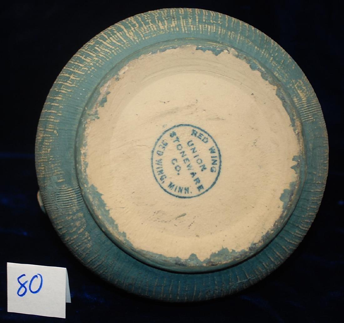 Brushed ware Red Wing Union Stoneware #127 Vase - 5